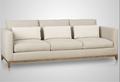 Marco de madera con estilo italiano sofá de la tela, buena calidad sofá de la sala conjunto