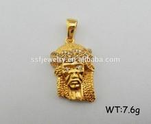 Custom Religious Jewelry Cooper Gold Plated Hip Hop Jesus Pendant