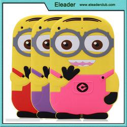 hot cartoon image silicone case skin cover for ipad mini