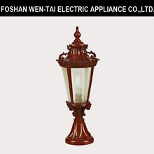 Red Brown Olde Style Fence Light Fixture / Exterior Sconce