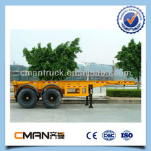 optional color 2 axle skeleton trailer container for sale