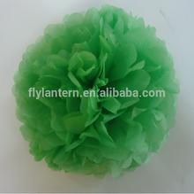 crafts for wedding 2015 tissue paper pom poms green
