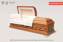 HOPE Solid Oak Wood Casket funeral product handicraft