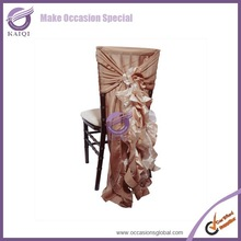 k3702 curly willow blush taffeta and organza chair hood and chair sash