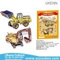 Parqueinfantil 3d puzzle truck series- wheelloader/escavadeira diy educacional& brinquedosintelectiva