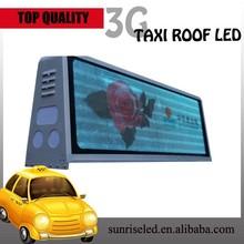 Sunrise led taxi screen display/taxi led screen panels/taxi led screen module