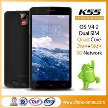 Quad core ultra slim android no brand 3g wcdma gsm dual sim smart phone