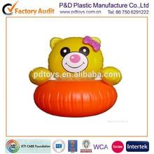 EN71 PVC inflatable panda air baby sitting chair