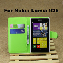 High Quality Lychee Grain Folio Wallet Stand Leather Case+2 Card Slot For Nokia Lumia 925 625 928 929