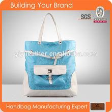 2480 Hot Sale Best Quality PU nylon women Tote handbags bag tote