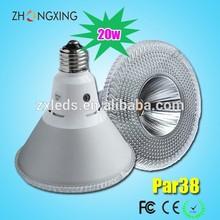 e26 led par38 cob 1850 lumen cool white 6500k spotlight 20w par38 light fitting