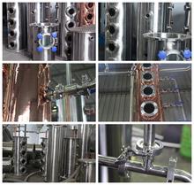USA Hot Sales Copper vodka distillation, reflux still equipment with bubble cap plates /stripper distillation and distiller