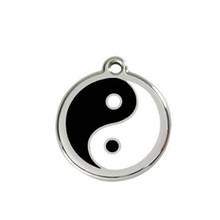 Yiwu Aceon Stainless Steel white and black enamel Yin Yang Dog Tag
