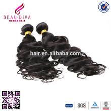 Indian Virgin/Remy Hair Italian Wave Machine Weft,virgin Indian hair 3 bundles