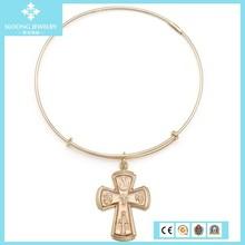 Sacred Cross Charm Christian Bangle