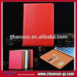 case for apple ipad mini, for ipad mini leather cover case accept paypal