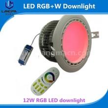 Led Down light die-cast aluminum material led rgb downlight color change auto