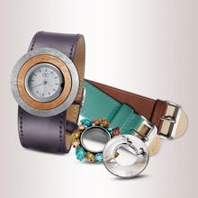 DIY Fashion Genuine Leather Thin Dress Watches