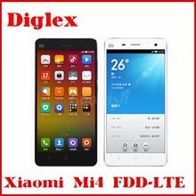 Original Xiaomi Mi4 Xiaomi-Mi4 Quad Core Qualcomm Snapdragon801 2.5GHz M4 Mi 4 1920X1080 JDI 3GB 16GB/64GB 4G FDD LTE Cell Phone