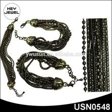 antique bronze multi chain bracelet jewelry fashion