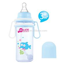 Straight pp baby bottle feeding