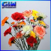 Plastic Cloves Flowers Artificial Carnations Decorative Silk Flowers For Arrangement - 5 Heads