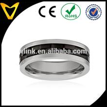 Men's Stainless Steel with Black Plating spinner stainless steel finger ring