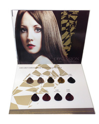 OEM Hight quality hair dye color chart hair color swatch book