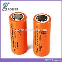 2015 New Coming Gpower 26650 4000mah Li-Mn High Drain Battery for Vmax, Mini Provari