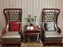 2015 Modern hotel luxury leather single seater sofa chair