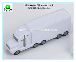 12.8x2.8x4.5cm promotional gift PU foam truck shaped stress ball/personalized PU material truck/soft toys PU anti stress truck