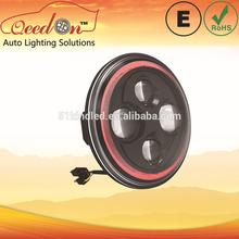 Qeedon 7inch LED Round ECE E-mark DOT 12v and 24v cars led daytime running lights headlight with turning light for Mahindra thar