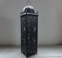 vintage moroccan candle lantern with cut out design