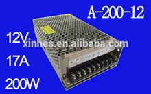 12V 17A 200W LED power supply (A-200-12)