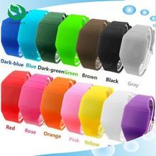 2015 Girls / Boys LED Watch Ultra-thin Design jelly Woman Electronic wristwatch