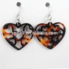 hot sell heart earrings fashion acetate earrings