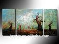 2015 yeni modern 3 paneli sanat/3 paneli yağlıboya/3 paneli tuval