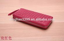 Fashion Style Women Wallet, Latest Design Lady Purse with sheepskin woven pattern