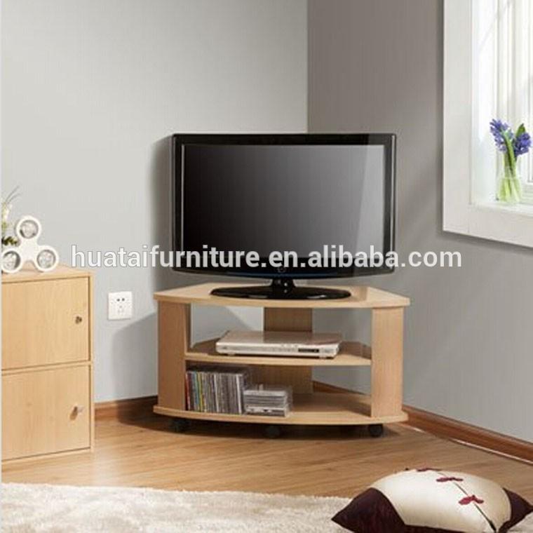 Bois design coin meuble tv t l vision stands salon meuble d 39 angle avec roue meubles en bois id - De goede hoek tele ...