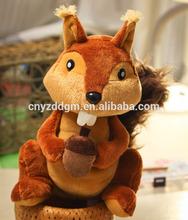 new design plush squirrel toys wholesale, plush squirrel,stuffed squirrel toy