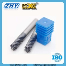 ZHY Brand HRC55 6 Flutes Carbide End Mills Finishing End Mill Cutters