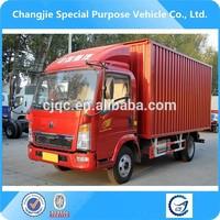 howo 5ton van truck ,delivery van