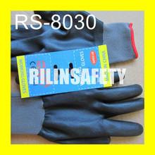 RILIN SAFETY top quality Ce en388 glove nitirle coated,cheap inner liner gloves EN388 EN420 CE