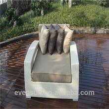 Modern outdoor PE rattan furniture rattan sofa bed