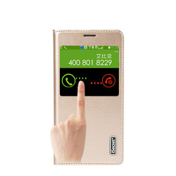 New Arrival big view window high quality PU leather case for samsung galaxy s5 gt-19600