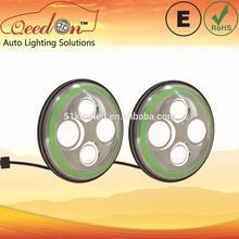 Qeedon 7inch LED Round ECE E-mark DOT head lamp for TOYOTA axio/fielder 06 headlight with turning light for Mahindra thar