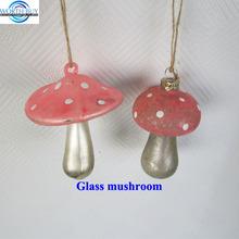 Antique pink Christmas mushroom glass ornaments decor