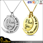2015 valentine's day necklace gift,factory custom jewelry