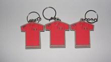 wow promotional red T-shirt pvc keychain pvc keyring