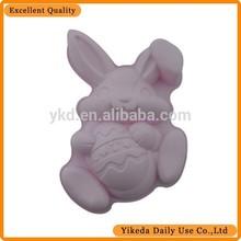 big white rabbit shaped silicone cake mold